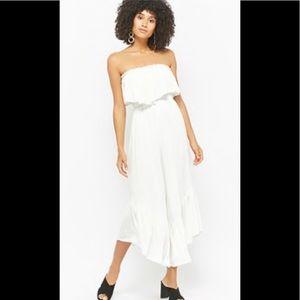 NWT Boho white jumpsuit F21